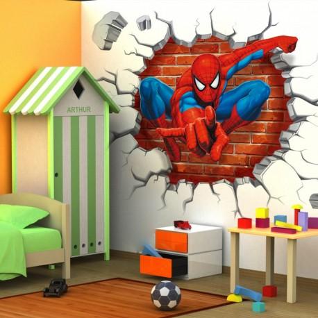 3D STENSKA NALEPKA -SPIDERMAN