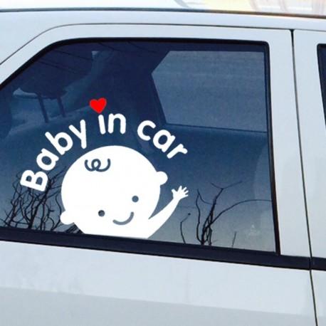 """NALEPKA ZA NA AVTO """"BABY IN THE CAR"""""""