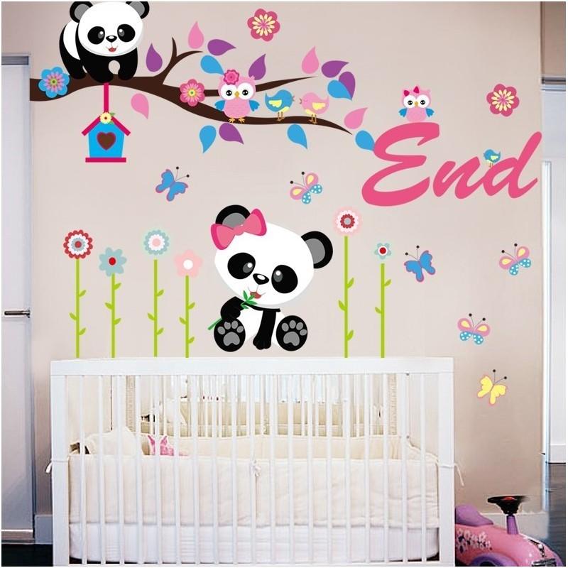 Stenska nalepka panda ii rossi netshop - Dibujos para habitacion de bebe ...