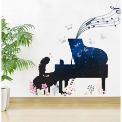 "STENSKA NALEPKA "" BEAUTIFUL PIANO """