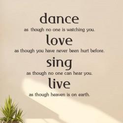 """STENSKA NALEPKA """"DANCE,LOVE,SING"""""""