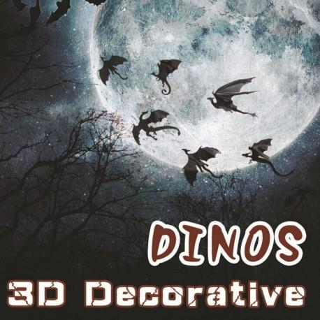 """7 DELNI SET 3D NALEPK """" DINOS """""""