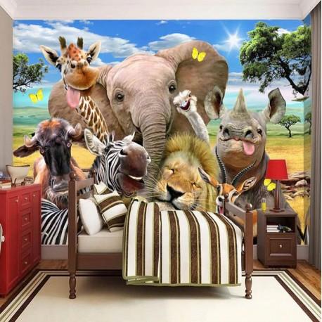 "FOTOTAPETA "" HAPPY ANIMALS "" ( 140*70 cm )"