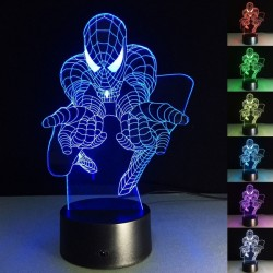 "3D led lučka ""SPIDERMAN 2 "" -7 BARV ( GARANCIJA ! )"
