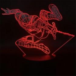 """3D led lučka """" Spiderman 3 """"-16 barv-daljinski upravljalnik ( Garancija ! )"""