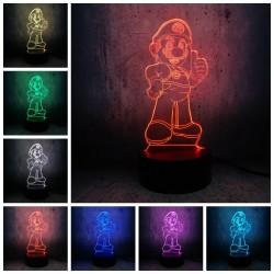 """3D LED LUČKA """" MARIO 2 """"-7 barv,daljinski upravljalnik ( GARANCIJA ! )"""
