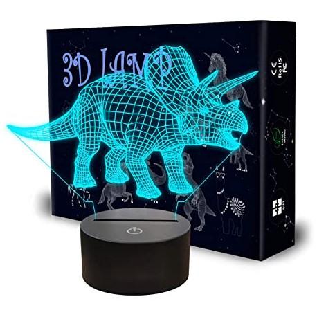 """3D LED LUČKA """" DINOZAVER 7 """" ( 7 spreminjajočih barv ) -GARANCIJA !"""