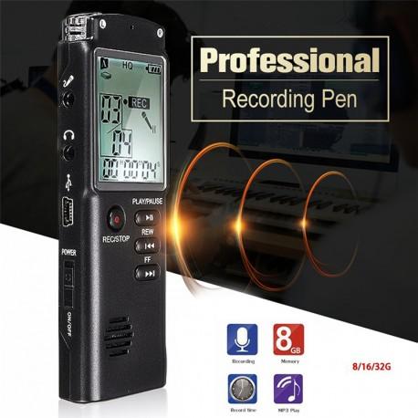 DIGITALNI DIKTAFON -SNEMALNIK ZVOKA,MP3 8GB ( GARANCIJA !)