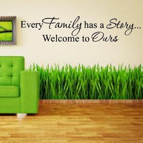 STENSKA NALEPKA -ŽIVLJENSKA INSPIRACIJA ( EVERY FAMILLY HAS  A STORY,WELCOME TO OURS )
