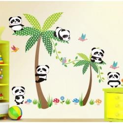 """STENSKA NALEPKA """" HAPPY PANDA """" ( 130* 86 cm )"""